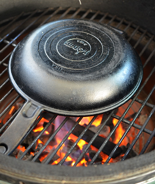 How to reseason cast iron on a grill
