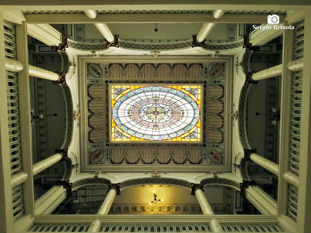 Palacete Basílio Jafet (Átrio e Vitrais da claraboia)