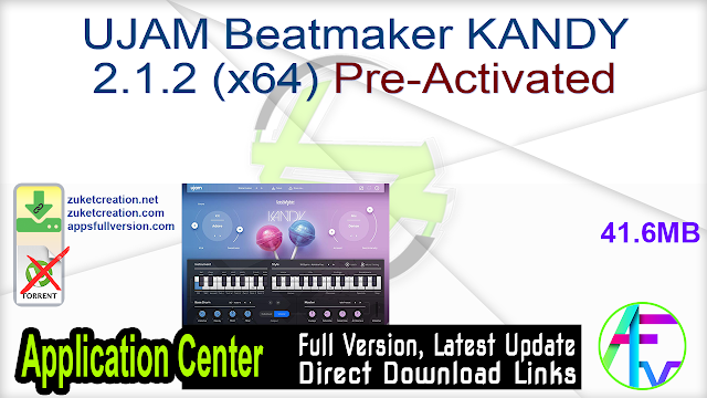 UJAM Beatmaker KANDY 2.1.2 (x64) Pre-Activated