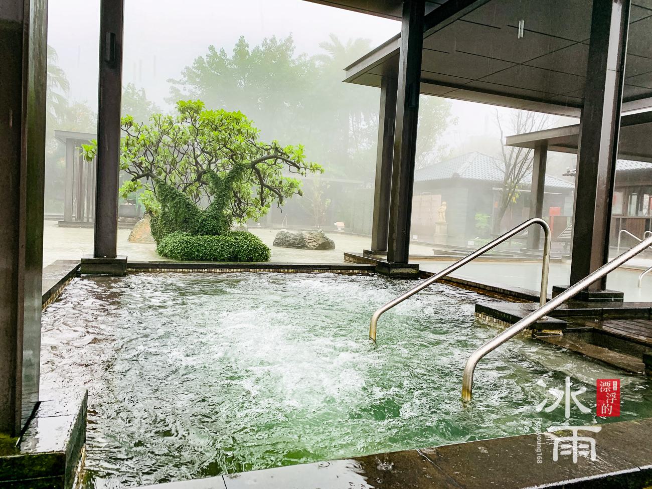 陽明山天籟溫泉會館|露天風呂冷水區