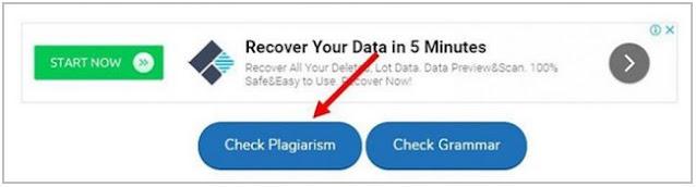 Cek Plagiat Online dengan Small SEO Tools – Plagiarism Checker;