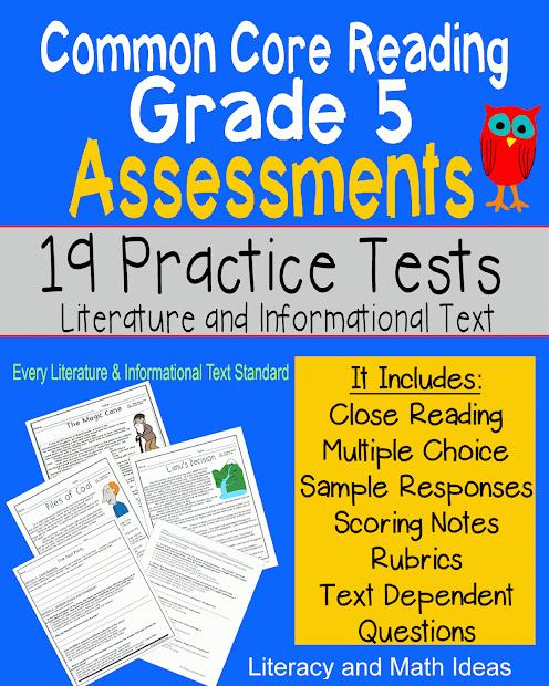 Literacy & Math Ideas Grade 5 Common Core Reading