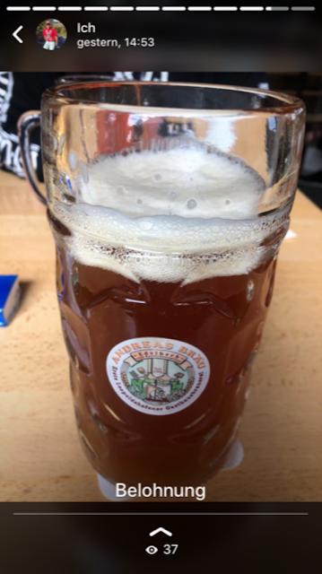 Ein Bier als Belohnung für den guten Lauf !!!