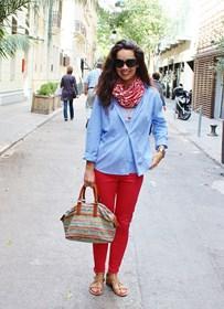 rojo azul en primavera red blue