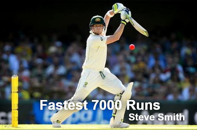 Steve Smith completes fastest 7000 test runs