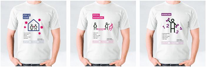 Printcious Covid-19 Warrior Awareness T-Shirts & Tote Bags Custom