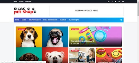 Dicas Pet Shop Blogger Template