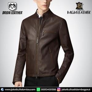 Jual Jaket Kulit Asli Garut Pria Domba Original Brida Leather B97 | WA 08813430588
