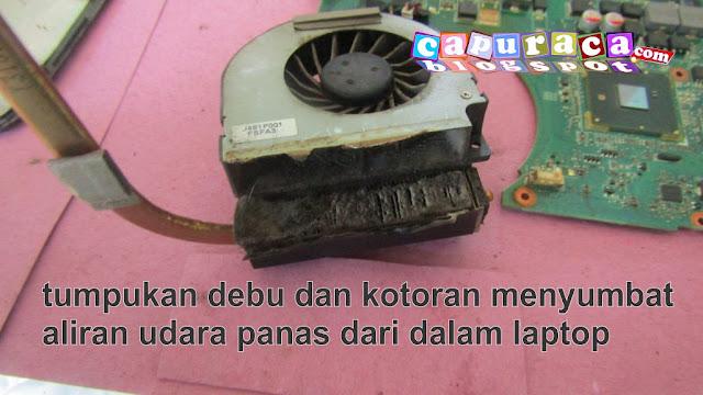 kipas laptop asus a42f, Cara Bersihkan Kipas Pendingin Laptop Asus A42F, kipas laptop