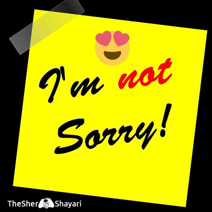 Best Sorry Shayari (सॉरी शायरी), Mafi Shayari SMS Collection Line Sorry Shayari.