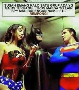gambar dp bbm superhero rempong