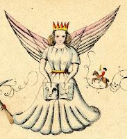 """Christkind-Darstellung im """"Struwwelpeter"""" von 1845"""