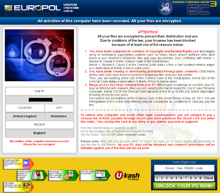 New Police Ransomware 'Browlock' targeting users in US, Canada and UK
