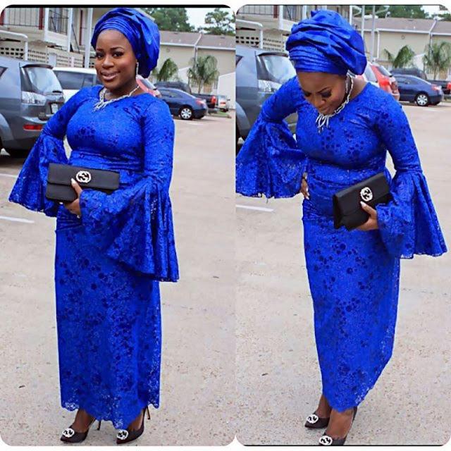 Deep Blue Lace Styles For Nigeria Ladies Dezango Fashion Zone