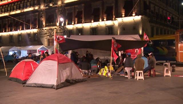 Campesinos continúan acampando en  zócalo ¡