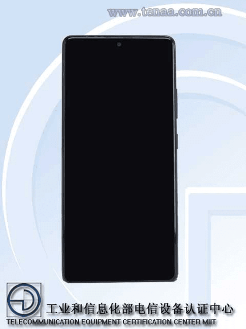 Punch-hole in the middle like Galaxy Note10