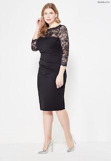 vestidos negro con manga