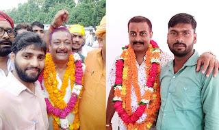 नवनिर्वाचित ब्लाक प्रमुख सत्येन्द्र सिंह को बधाई देने वालों का लगा तांता  | #NayaSaberaNetwork