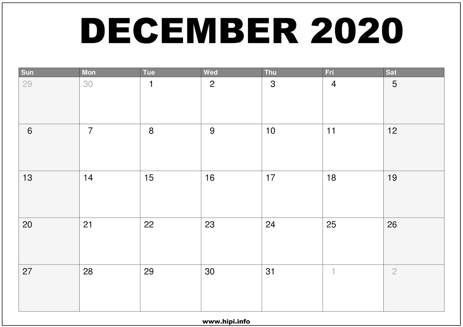 Calendar December 2020.Twitter Headers Facebook Covers Wallpapers Calendars December