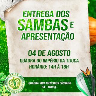 Flyer entrega de sambas