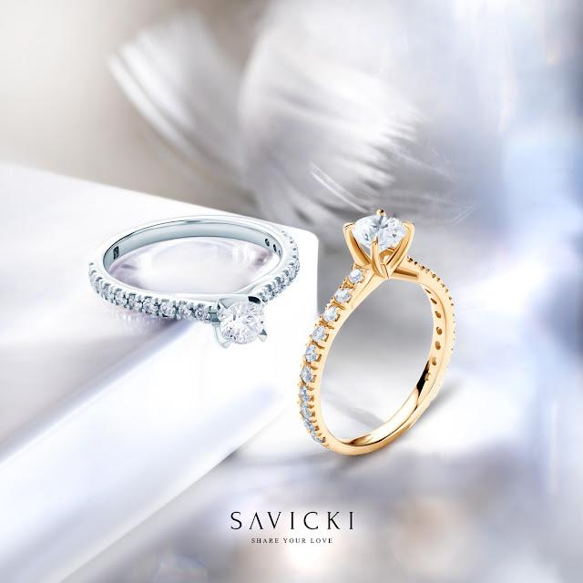 pierścionek zareczynowy w stylu HALO