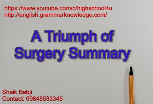 A Triumph of Surgery Summary