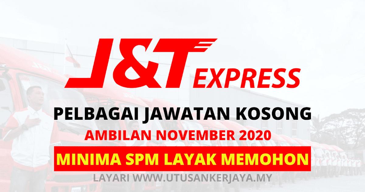 Minima SPM Layak Memohon Jawatan Kosong J&T Express ...