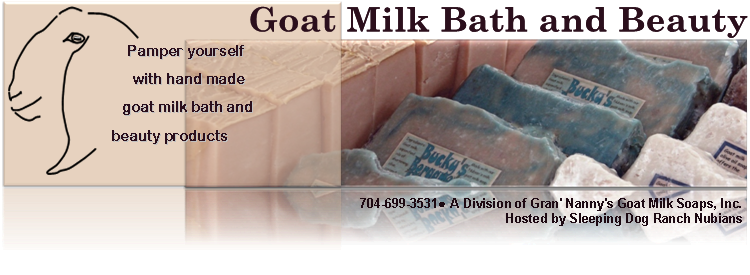 Goat Milk Bath Soaps and Beauty Lotions