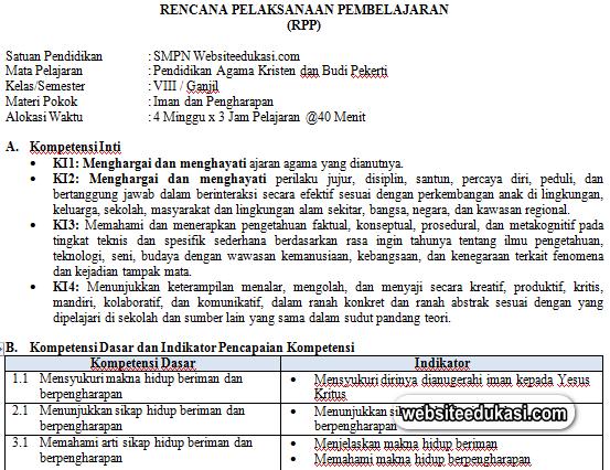 Rpp Pak Dan Bp Kelas 8 Kurikulum 2013 Revisi 2019 Websiteedukasi Com