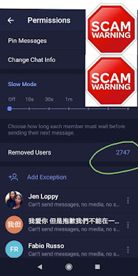 Removed members at Free Advertising Telegram Group
