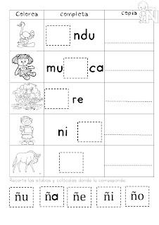 Completo cuaderno de sílabas