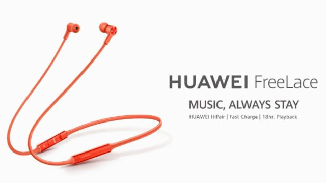 Huawei FreeLace Pro headset official with ANC, built-in USB-C cable.