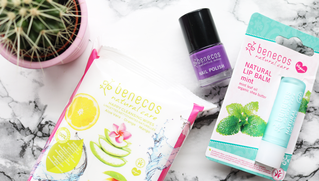 Benecos Happy Cleansing Wipes, Natural Lip Balm in Mint & Nail Polish in Maverick review