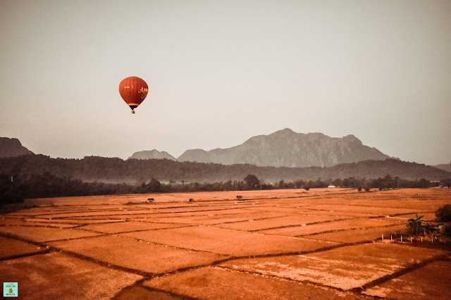 Vuelo en globo en Vang Vieng, Laos