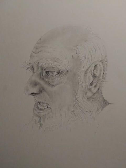 Old man pencil sketch
