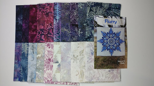 Plum Pudding fabric and Flurry quilt pattern