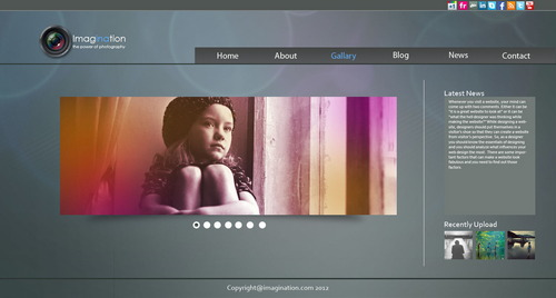 Free Psd Imagination Web Template