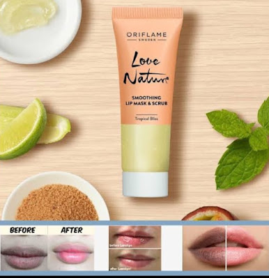 Review Produk Love Nature Lips mask & Scrub Tropical Bliss