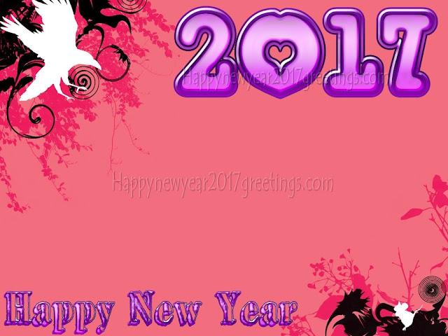Happy New Year 2017 3D Desktop Background