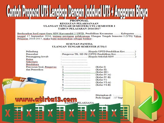 Contoh Proposal UTS Lengkap dengan Jadwal + Anggaran Biaya Format Words