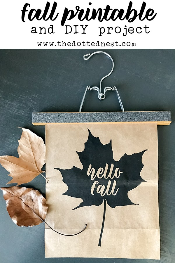 Hello Fall Printable and DIY Project