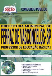 Baixar Apostila Concurso Prefeitura de Ferraz de Vasconcelos 2018 PDF