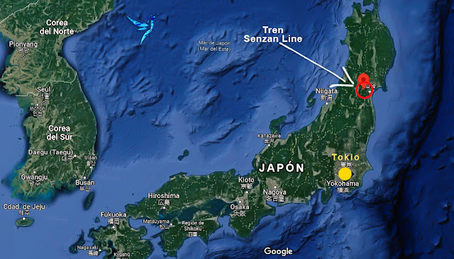 Mapa Senzan Line Japón