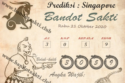 Syair Bandot Sakti Togel Singapore Rabu 21 Oktober 2020