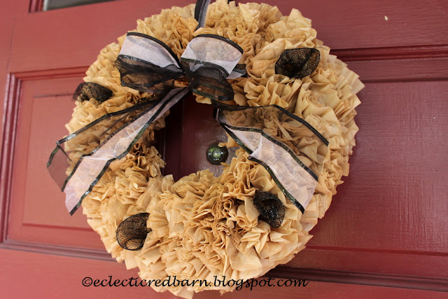 Eclectic Red Barn: Natural Coffee Filter Wreath