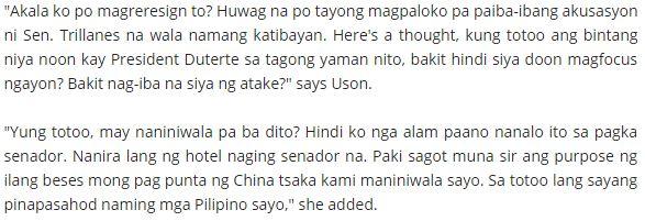 Mocha to Trillanes: Sa totoo lang sayang pinapasahod naming mga Pilipino sayo
