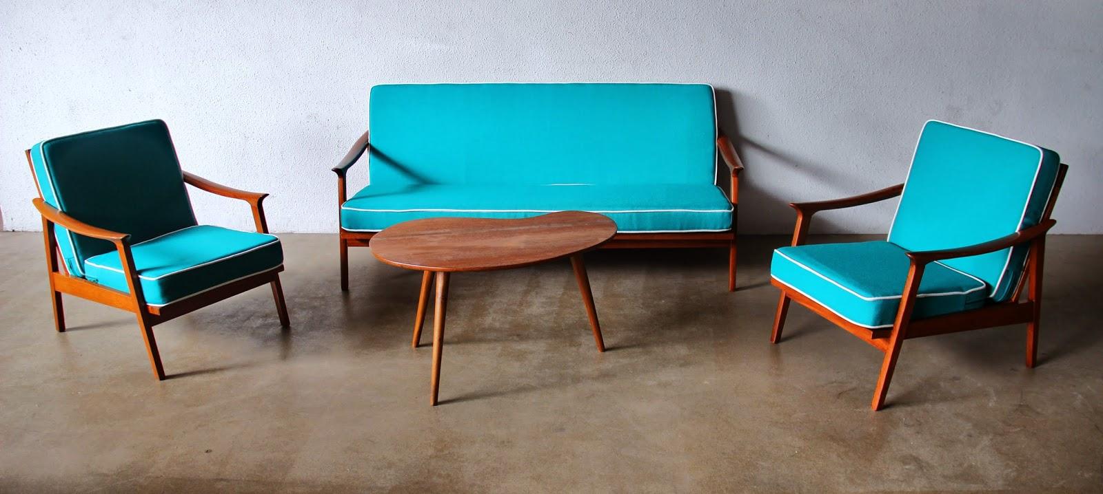 Vintage Love Furniture Red And Reupholstered