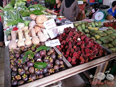 Local fruits and vegetables at Serian Market