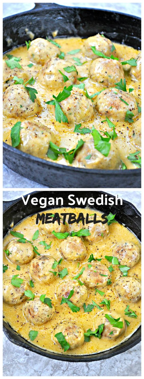 Vegan Swedish Meatballs #swedish #swedishfood #meatballs #vegan #veggies #veganrecipes