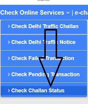 check e challan status online